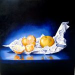 Mmmm... Mandies - oils on stretched canvas - 100cm x 100cm - sold